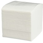 Тоалетна хартия на пачки - бяла, 100% целелулозна, гофрирана
